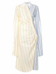Vivetta gathered contrast print dress - Yellow