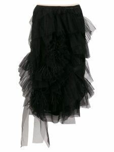 Nº21 ruffle trimming skirt - Black