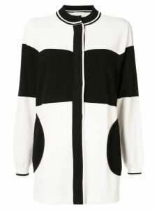 Anteprima colour block cardi-coat - Black