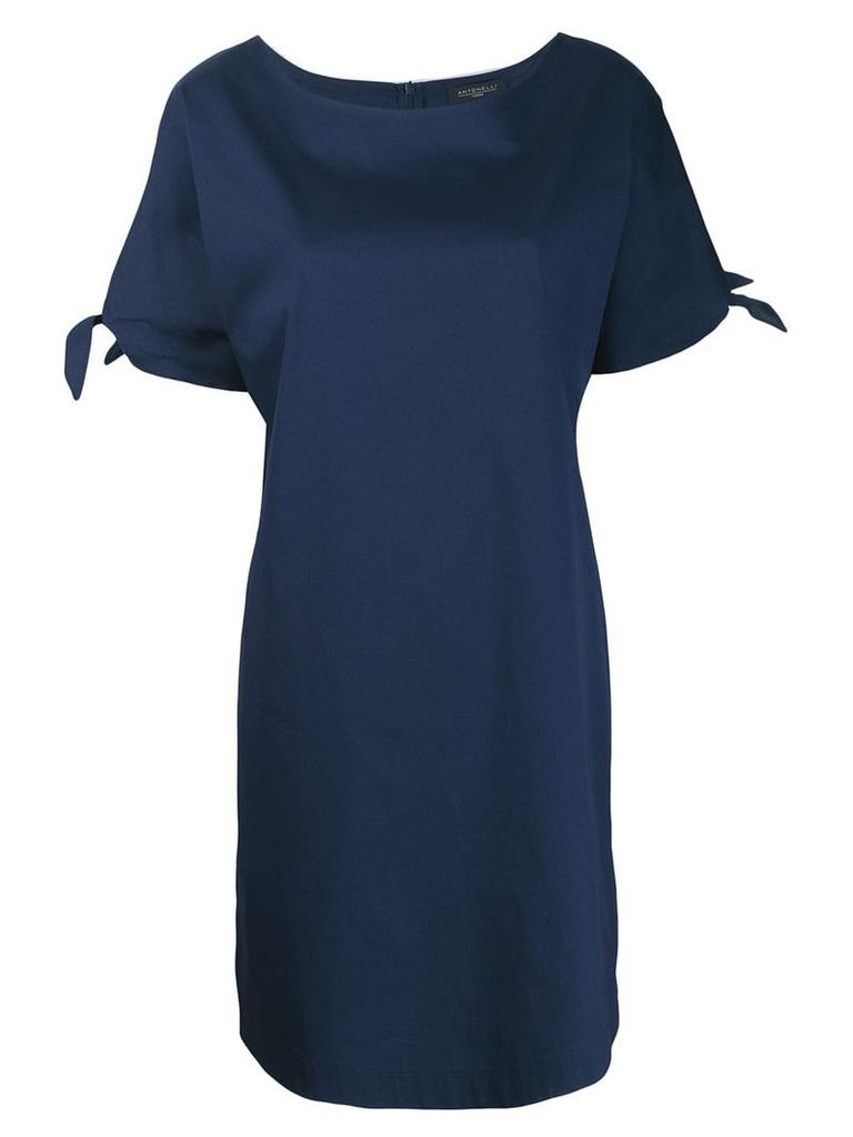 Antonelli tie sleeve dress - Blue