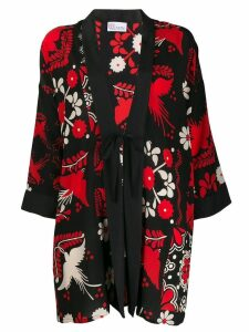 Red Valentino terrace print kimono - Black