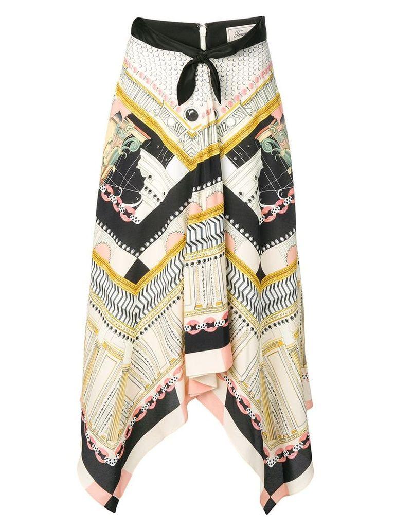 Temperley London Obelisk skirt - Neutrals