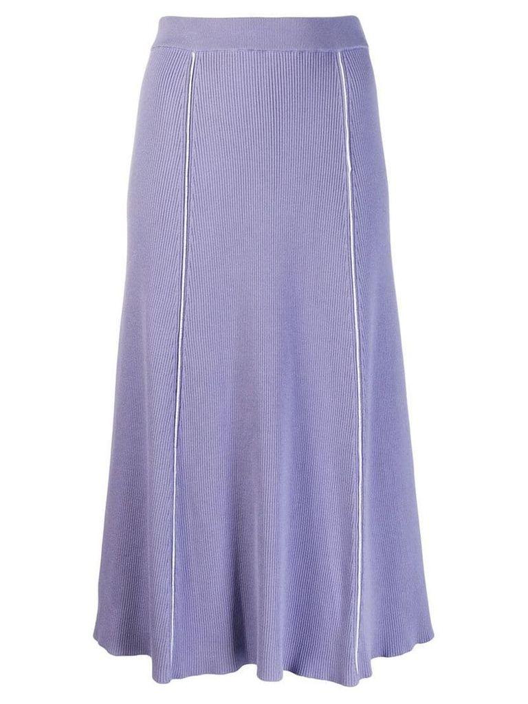 Pringle Of Scotland panelled knit skirt - Purple