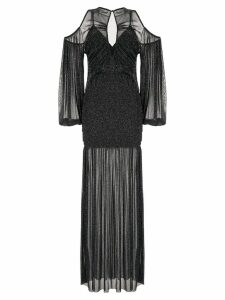 Alice Mccall Spell cold-shoulder gown - Black
