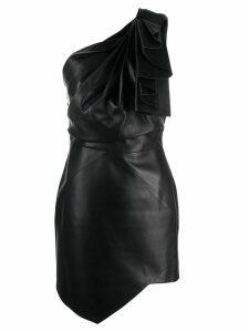 Alexandre Vauthier ruffle trim asymmetric dress - Black