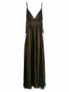 Alberta Ferretti crochet details dress - Black