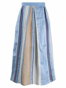 Lorena Antoniazzi striped skirt - Blue