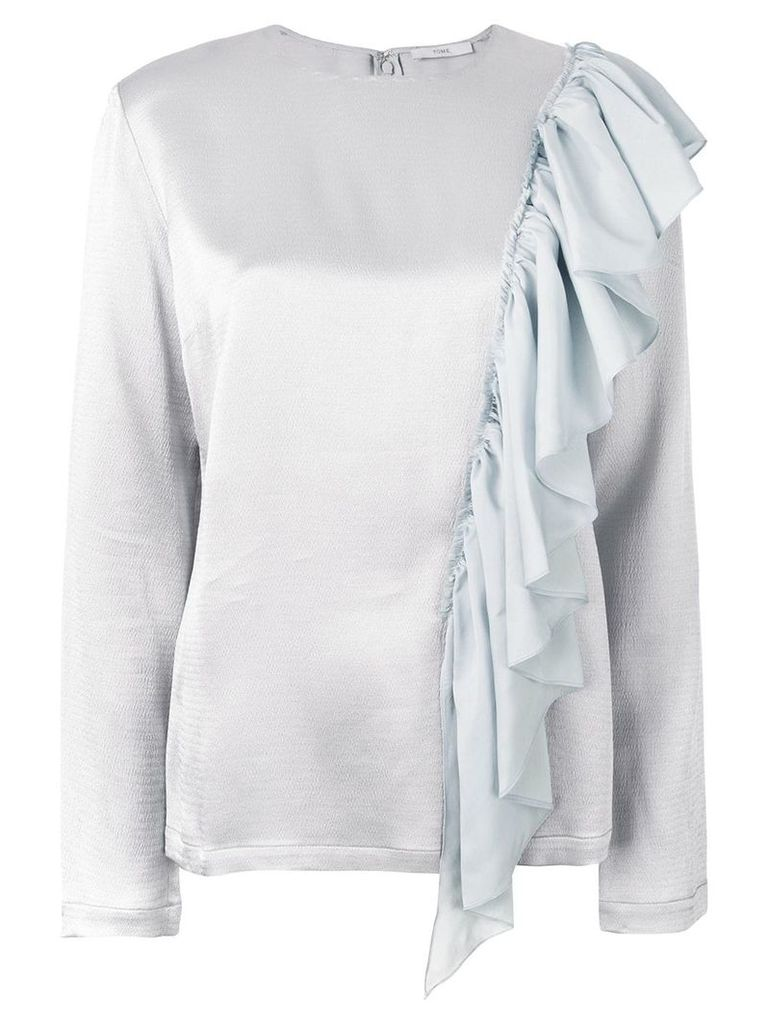 Tome ruffle embellished blouse - Blue