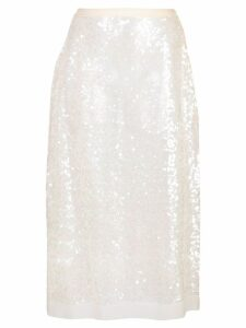 Miu Miu sheer sequin skirt - White