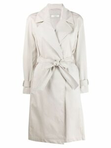 Peserico belted trench coat - Neutrals