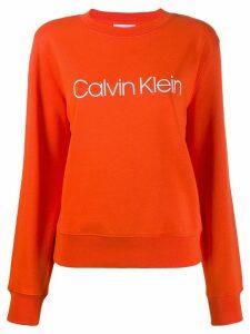 Calvin Klein logo sweatshirt - Orange