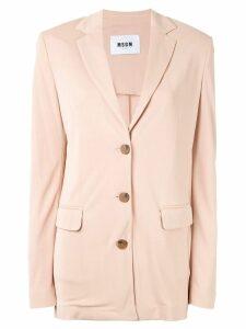 MSGM smart buttoned blazer - PINK