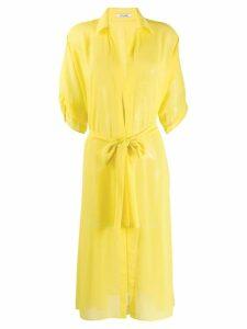Styland midi shirt dress - Yellow