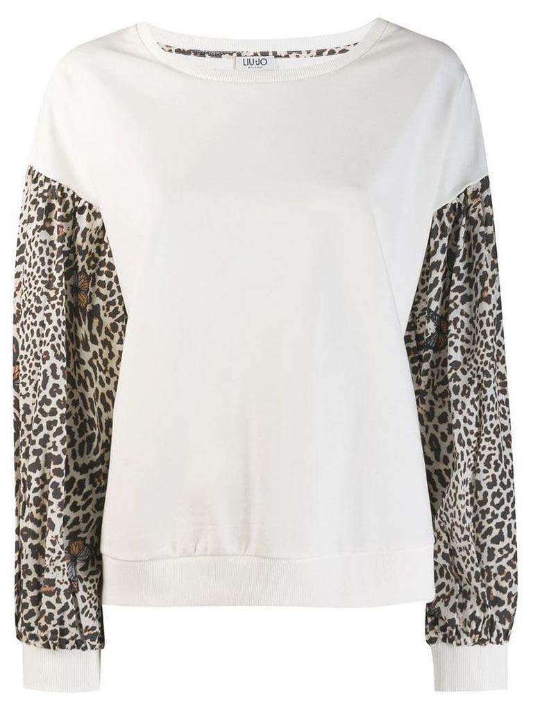 Liu Jo leopard print sweatshirt - White