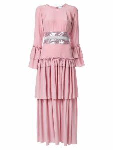 In The Mood For Love pleated evening dress - Pink