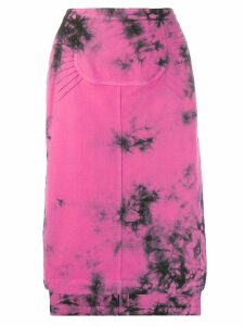 Nº21 tie-dye midi skirt - Pink