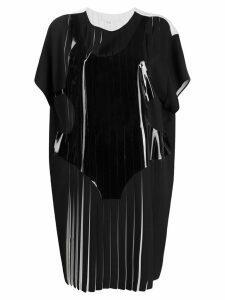 MAISON MARGIELA pleated T-shirt dress - Black