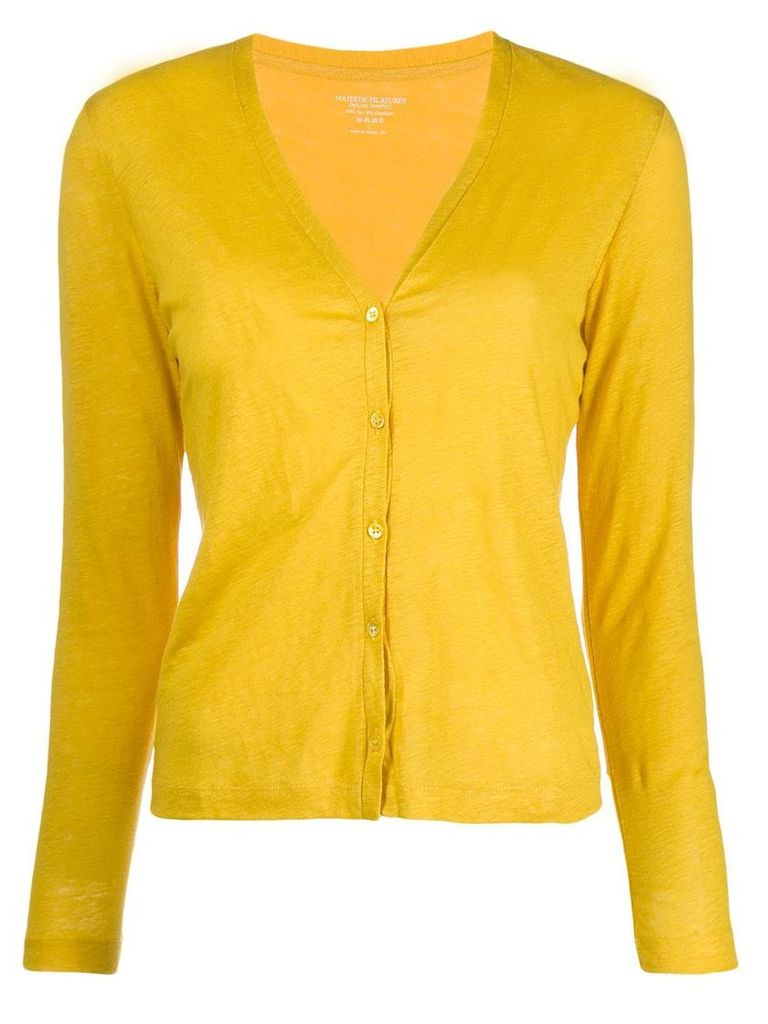 Majestic Filatures slim cardigan - Yellow