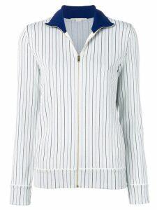 Stella McCartney zip-front pinstripe cardigan - White