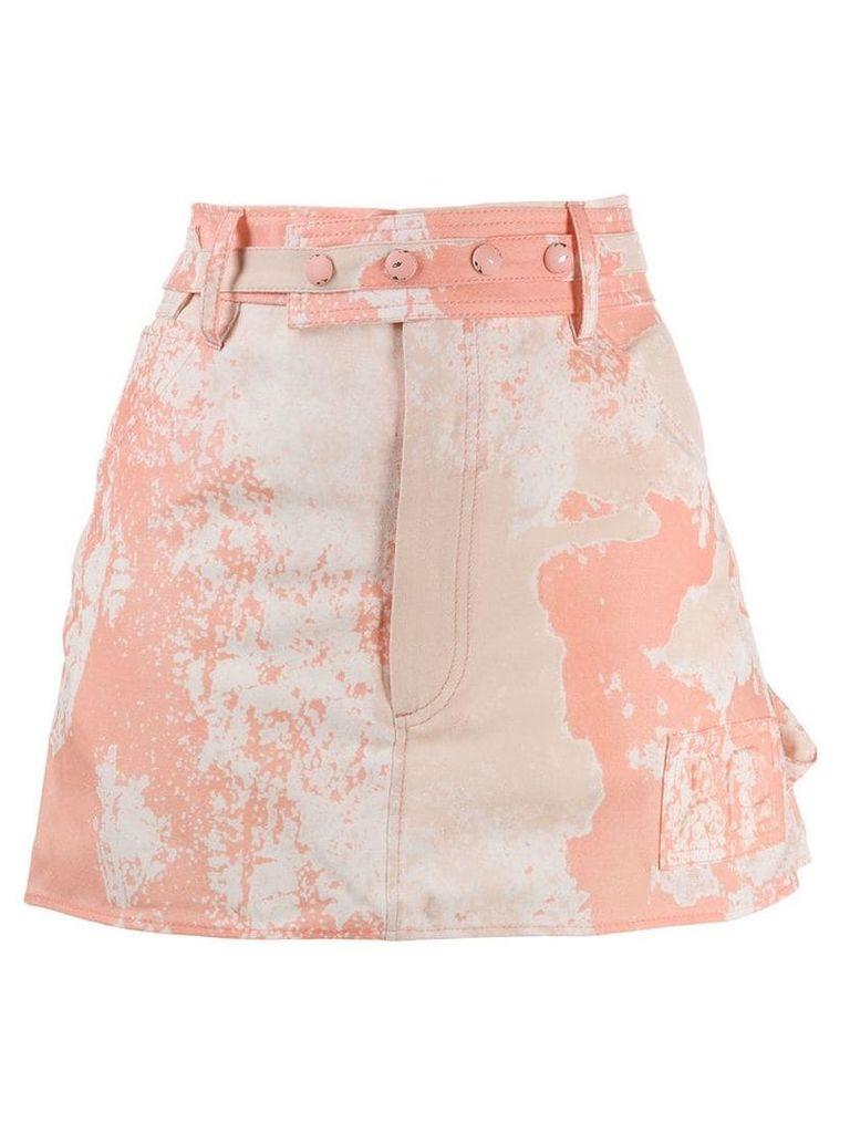 Courrèges tie-dye skirt - Pink