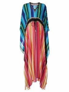 Mary Katrantzou pleated kaftan dress - Multicolour
