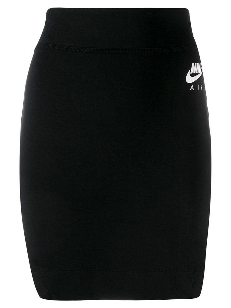 Nike logo pencil skirt - Black