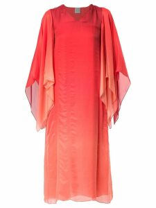Ingie Paris degradé cape dress - Red