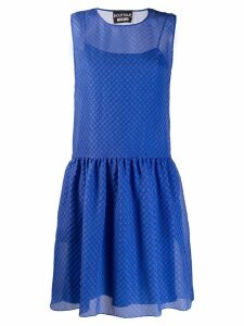 Boutique Moschino lattice jacquard dress - Blue