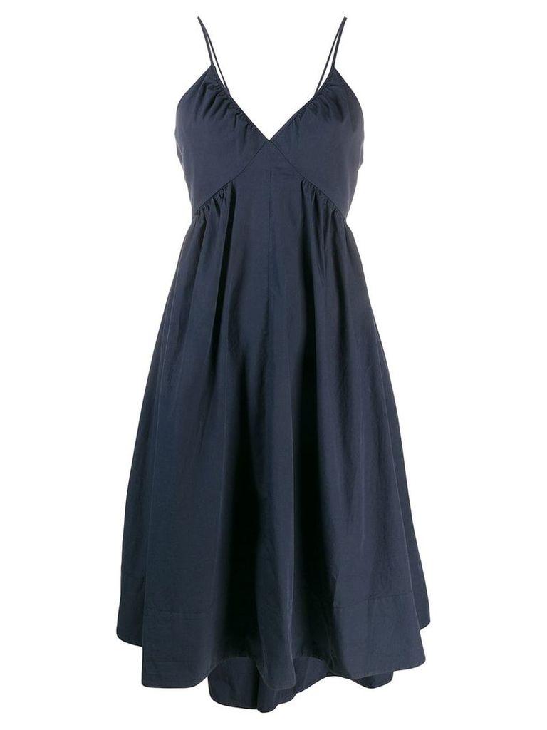 Closed spaghetti strap dress - Blue