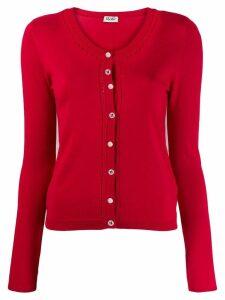 Liu Jo classic fitted cardigan - Red