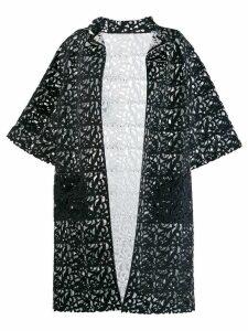 Gianluca Capannolo cut out patterned coat - Black