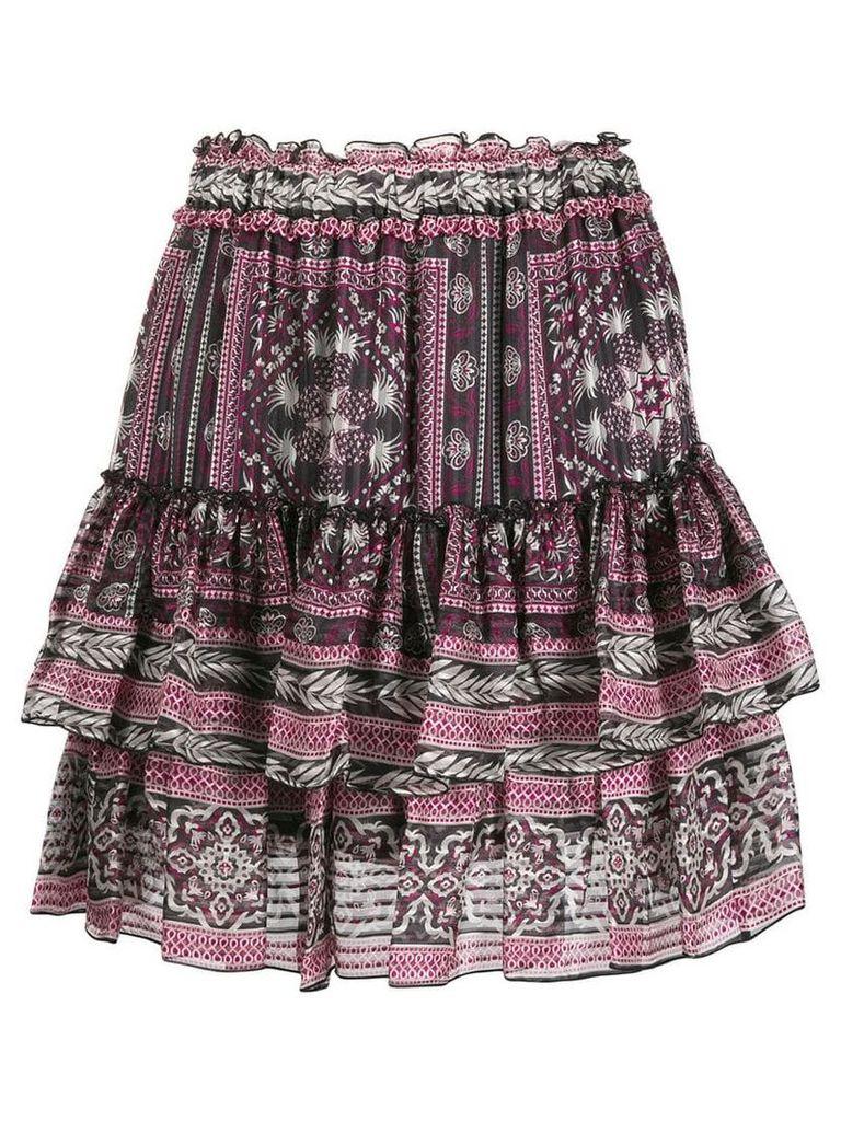 Isabel Marant short Erine skirt - Purple