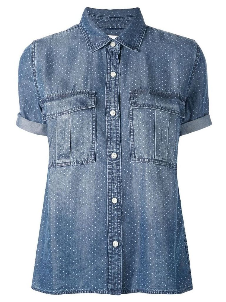 Current/Elliott polka dot denim shirt - Blue