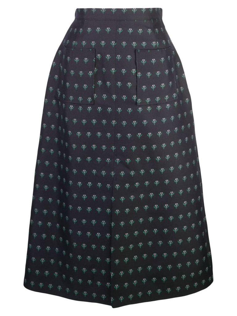 Alexa Chung floral print skirt - Black