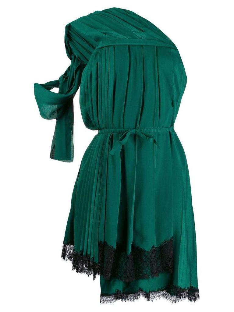 Nº21 one-shoulder pleated dress - Green