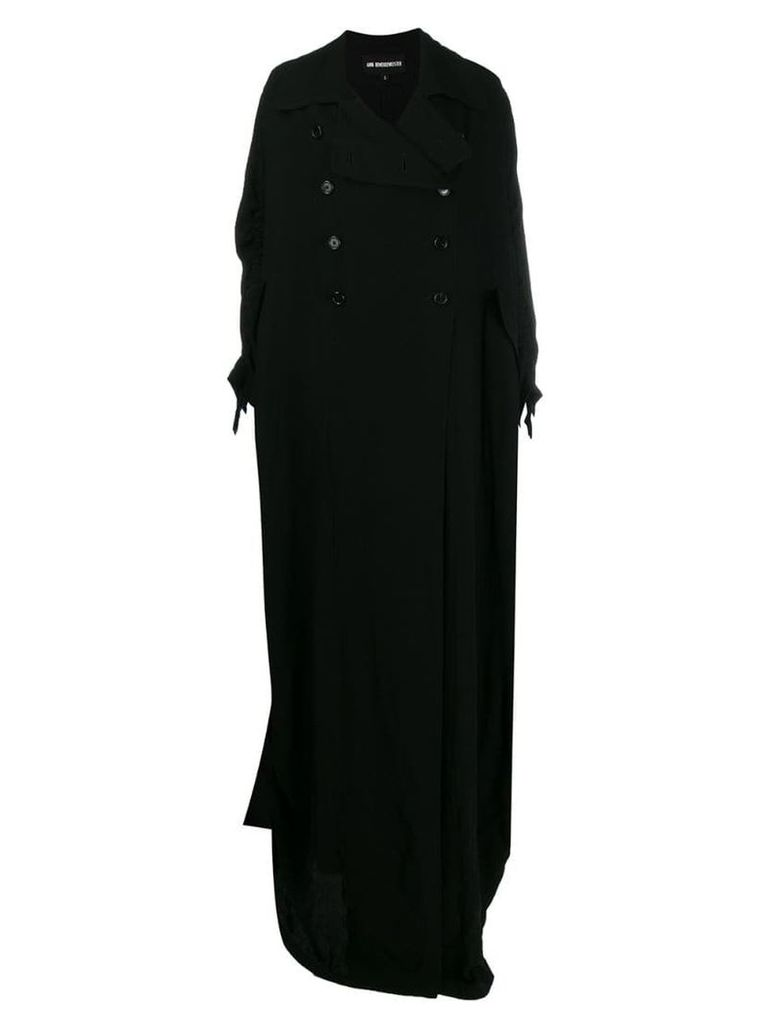 Ann Demeulemeester double breasted maxi coat - Black
