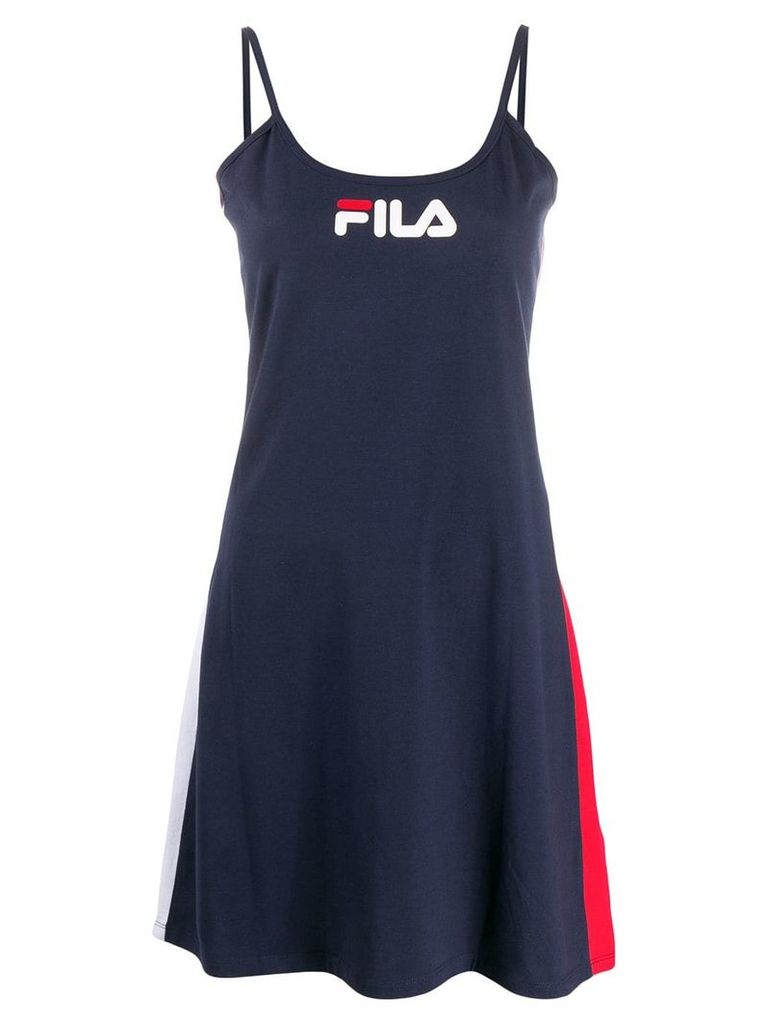 Fila Jaela logo print dress - Blue