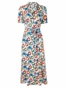 HVN floral print dress - White