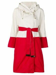 Max Mara panelled rain coat - White