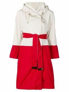 Max Mara panelled rain coat - White