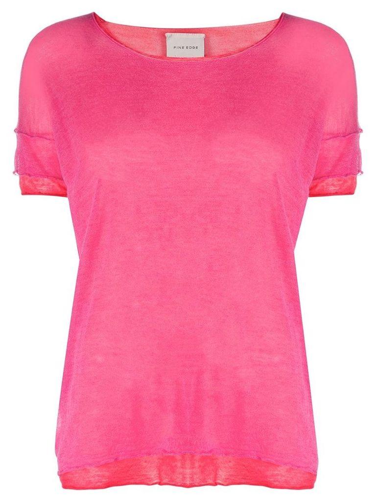 Fine Edge layered T-shirt - Pink