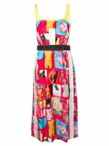 Marni sleeveless printed dress - Pink