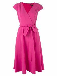 Black Halo wrap flared dress - Pink