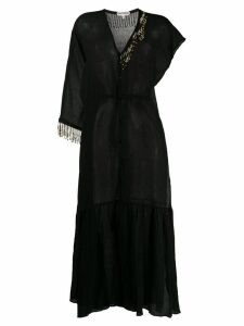 Giacobino bead embellished shirt dress - Black