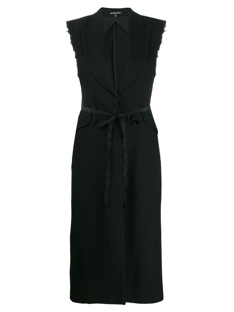 Ann Demeulemeester sleeveless trench coat - Black