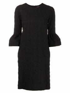 Antonelli textured puff sleeve dress - Black