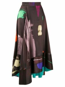 Roksanda brush stroke skirt - Brown