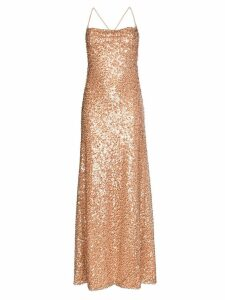 Galvan Whiteley sequinned gown - Neutrals