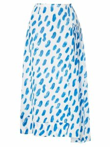 Marni brush stroke print skirt - Blue