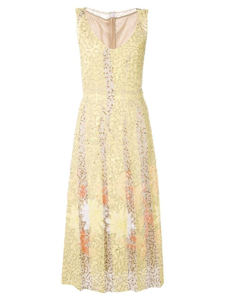 Marni sequin midi dress - Yellow